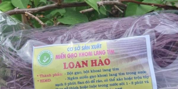 Miến gạo khoai lang tím