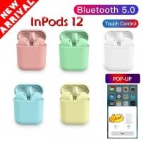 Tai nghe bluetooth không dây cảm ứng Inpods 12 TWS nhiều màu tỷ lệ 1:1, có Pop-up khi kết nối